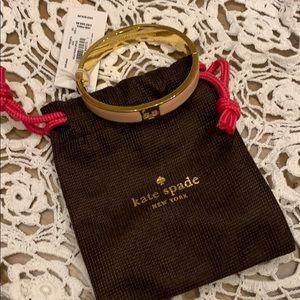 Kate Spade Pink Hole Punch Hinged Bangle Bracelet